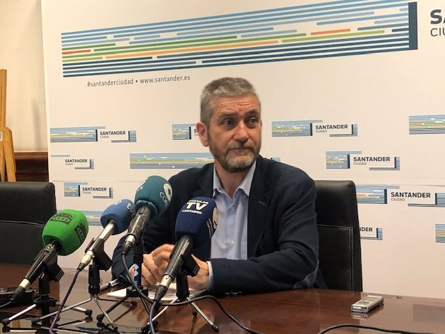 Javier Ceruti (Cs), portavoz de Cs en el Ayuntamiento de Santander; portavoz del equipo de Gobierno municipal (PP-Cs) y concejal de Urbanismo, Innovación y Contratación