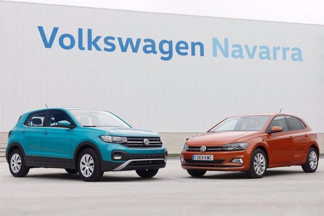 Volkswagen T-Cross y Volkswagen Polo producidos en la factoría de Volkswagen Navarra.