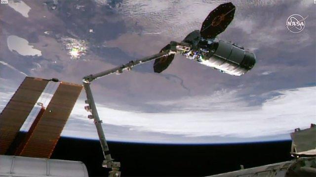 Atraque de nave Cygnus en la Estación Espacial