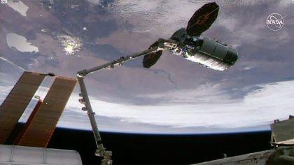 Una nave Cygnus llega a la Estación Espacial con 3,4 toneladas de carga