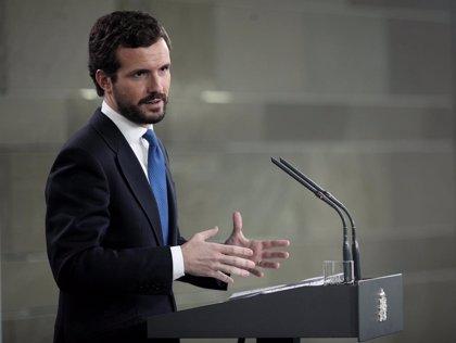 """España.- Casado dice que hizo una oferta """"sincera"""" a Sánchez y le acusa de lanzar el """"mantra"""" de que el PP """"crispa"""""""