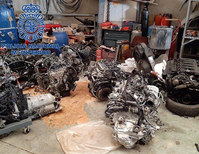 Motores recuperados.