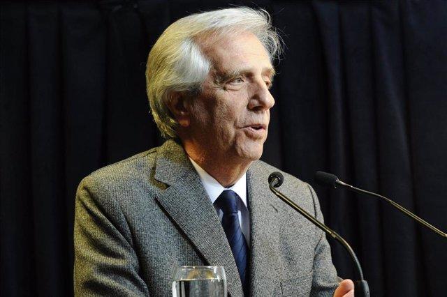 El presidente saliente de Uruguay, Tabaré Vázquez