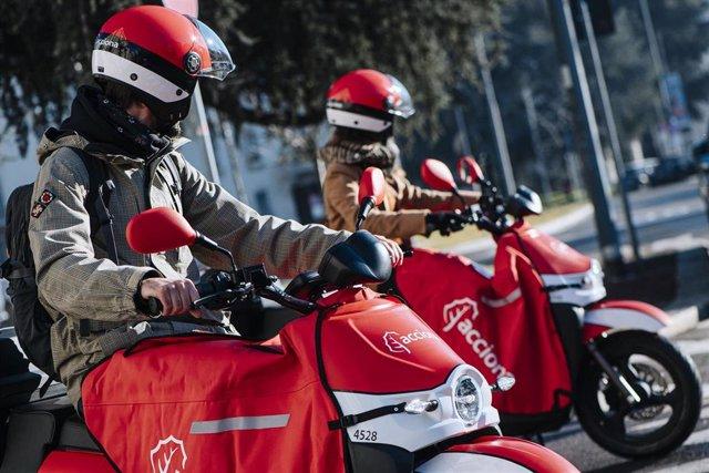 Servicio de moto compartidas
