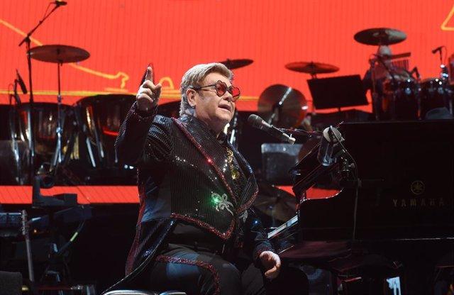 FILED - 05 July 2019, Bavaria, Munich: The British singer, composer and pianist, Sir Elton John,