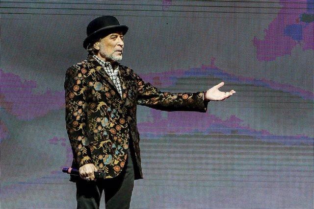 El cantant Joaquín Sabina, durant la seva actuació al WiZink Center de Madrid el passat 20 de gener del 2020.