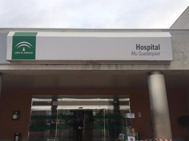 Imagen de archivo del Hospital Alto Guadalquivir de Andújar (Jaén).