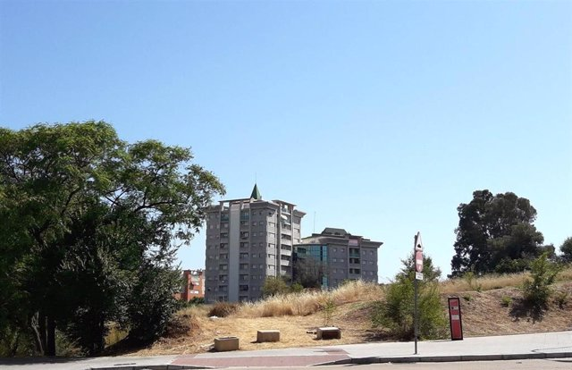 Cabezo La Joya desde la calle Fray Junípero Serra.