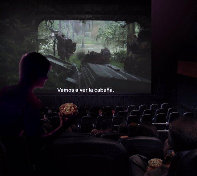 Sesión de cine accesible