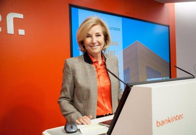 La consellera delegada de Bankinter, María Dolores Dancausa, en la presentació de resultats del 2019 a la seu del banc a Madrid.