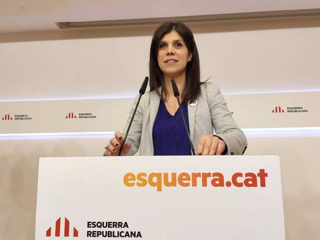 La secretària general adjunta i portaveu d'ERC, Marta Vilalta (Arxiu)