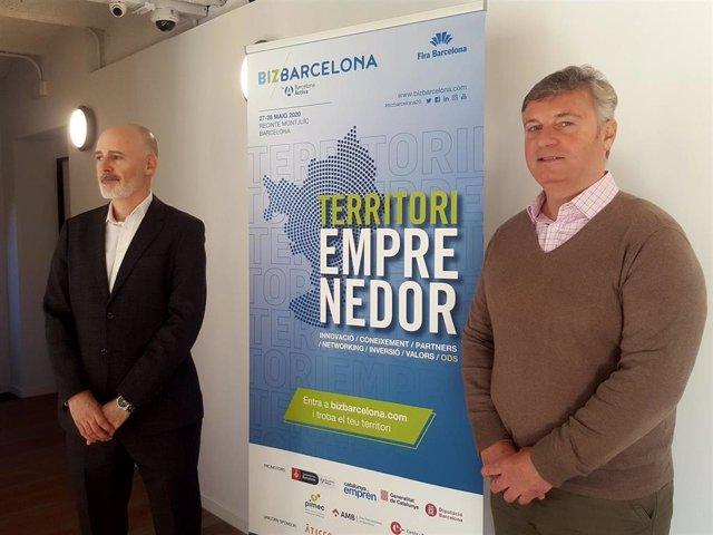 El director general de Barcelona Activa, Félix Ortega, y el director de Bizbarcelona, Aleix Planas
