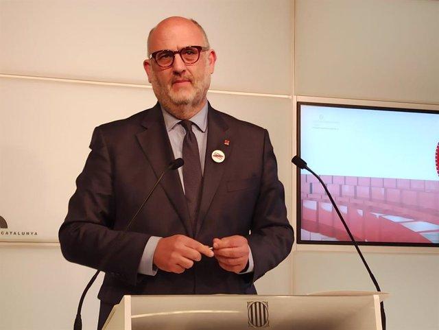 Eduard Pujol (JxCat) en roda de premsa