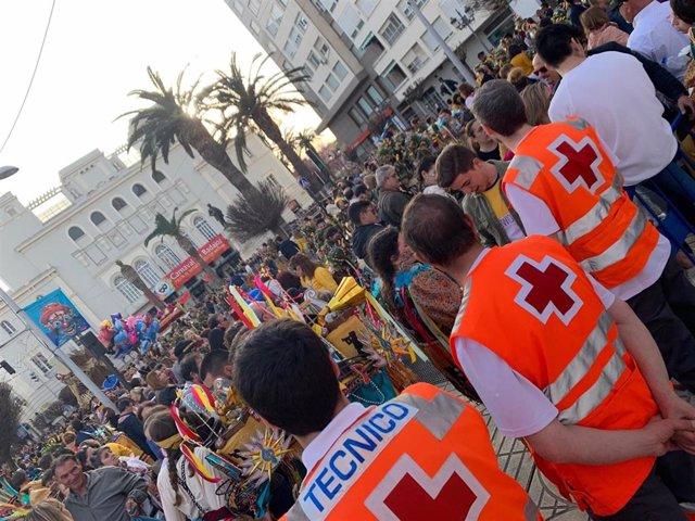 Dispositivo de Cruz Roja Extremadura en Carnavales