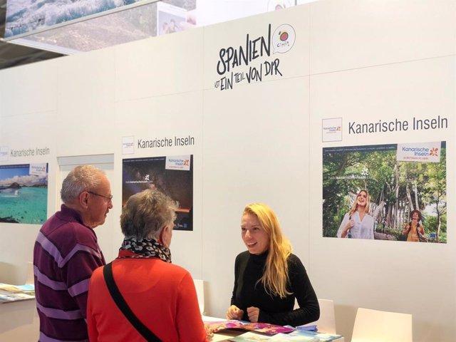 Canarias presente en el stand de España en la Feria de Turismo de Munich, F.R.E.E.