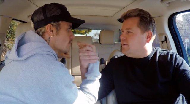 Justin Bieber y James Corden