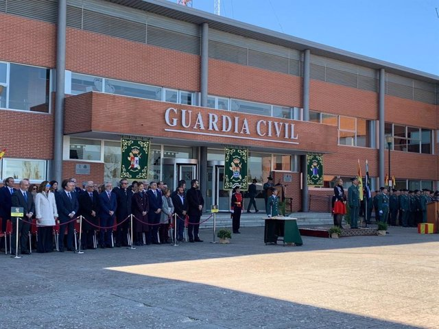 Toma de posesión del nuevo jefe de la Comandancia de la Guardia Civil de Cáceres, José Andrés Campón