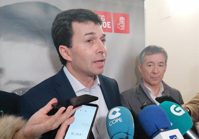 El secretario xeral del PSdG, Gonzalo Caballero, en Ferrol.