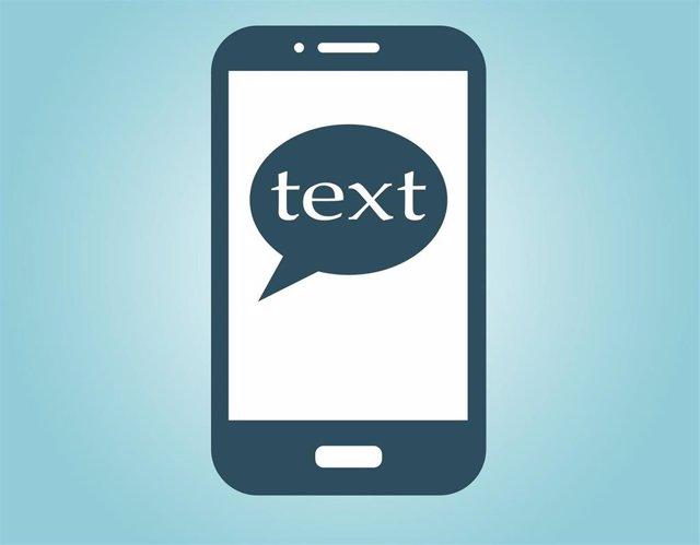 Mensaje en un teléfono móvil