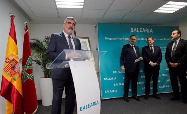 Balearia muestra su proyecto de empleo juvenil en Marruecos