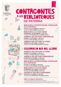 Cuentacuentos en las bibliotecas de Paterna