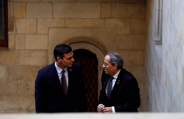 Quim Torra y Pedro Sánchez (archivo)