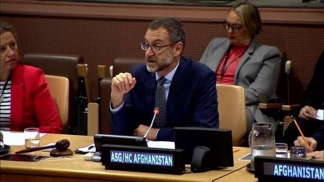 Toby Lanzer, 'número dos' de la UNAMA, en una comparecencia
