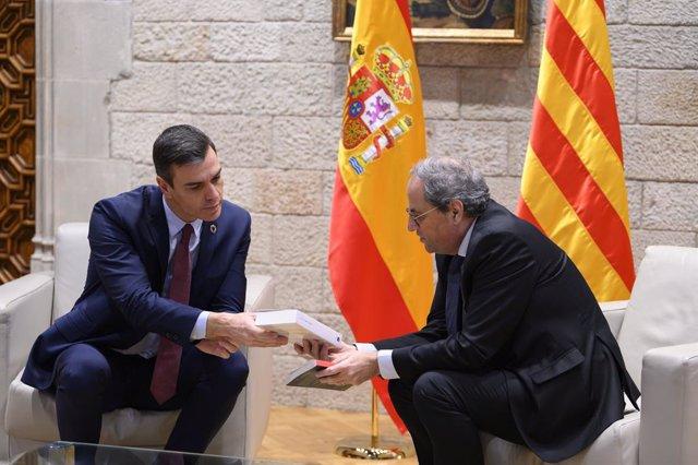 Pedro Sánchez y Quim Torra (archivo)