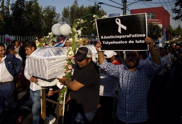 Funeral de la niña Fátima Cecilia