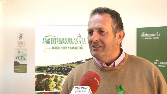 El presidente de APAG Extremadura Asaja, Juan Metidieri, en declaraciones a Europa Press