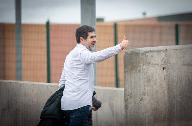 L'expresident de l'Assemblea Nacional Catalana (ANC), Jordi Sànchez surt de la presó de Lledoners, Barcelona (Catalunya/Espanya) 25 de gener del 2020.
