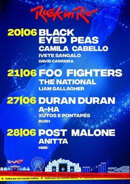 Duran Duran y A-Ha se suman a Foo Fighters, Black Eyed Peas, Post Malone o Camil