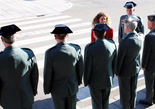 La delegada del Gobierno, Ainoa Quiñones, visita a la Guardia Civil