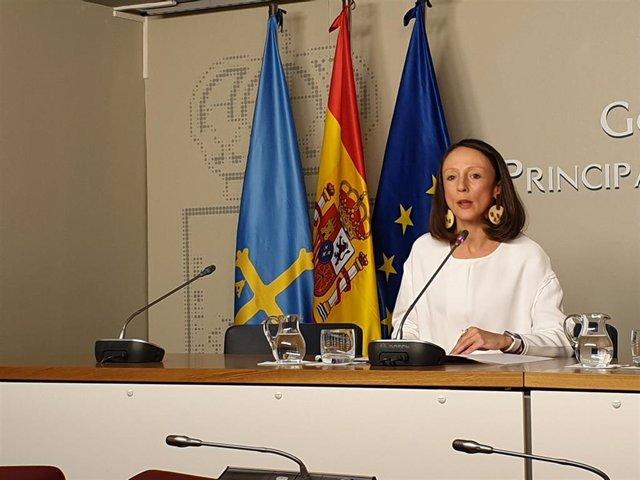 La portavoz del Gobierno del Principado y consejera de Derechos Sociales y Bienestar, Melania Álvarez