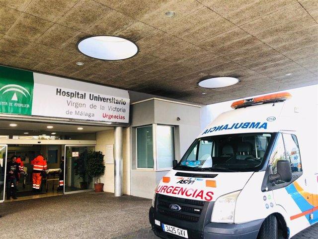 Puerta de Urgencias del Hospital Clínico Virgen de la Victoria