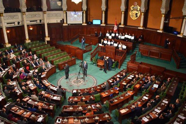 Vista de la Asamblea de Representantes del Pueblo, el Parlamento unicameral de Túnez