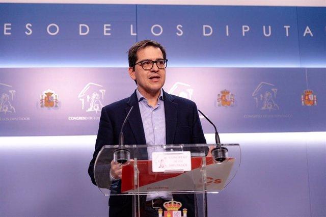 El secretario de Acción Institucional de la Gestora de Ciudadanos y secretario general del grupo de Cs en el Congreso, José María Espejo-Saavedra.