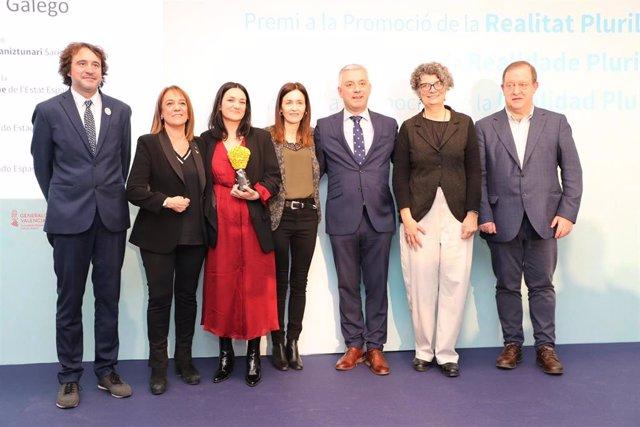 Entrega del premio a la promoción de la realidad multilingüe en España.