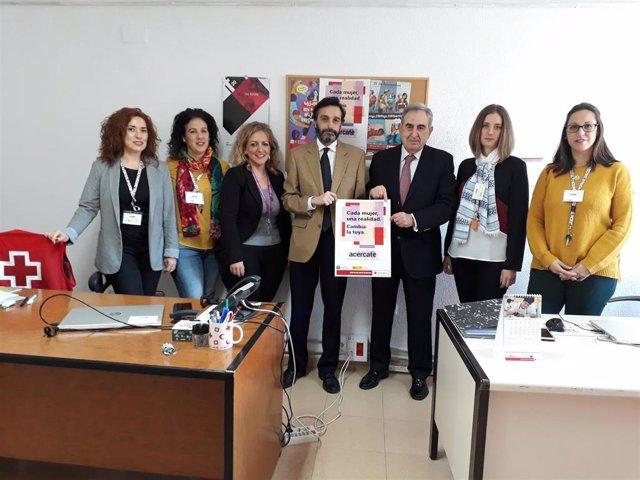 Encuentro con el equipo multidisciplinar de la iniciativa de la Junta y Cruz Roja