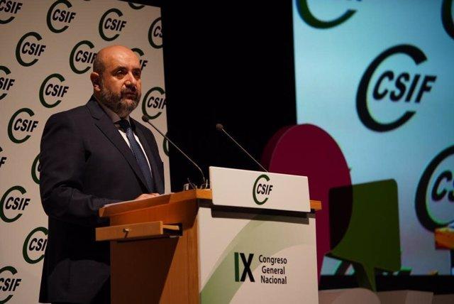 El presidente de CSIF, Miguel Borra