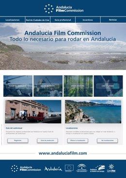 Cartel promocional de la Andalucía Film Commisision.