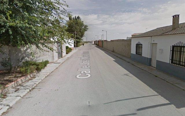 Calle José María Perona de Las Mesas