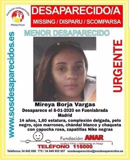 Buscan a una menor de 14 años en la tercera desaparición denunciada esta semana en Fuenlabrada