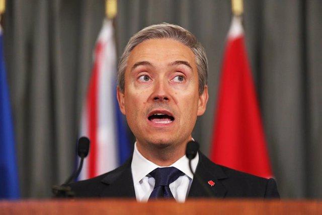 El ministro de Asuntos Exteriores de Canadá, Francois-Philippe Champagne.