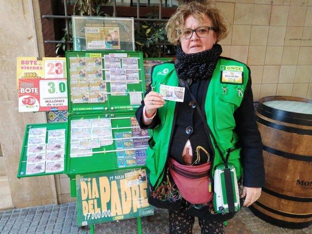 María del Mar Moreno, vendedora de la ONCE en Cádiz
