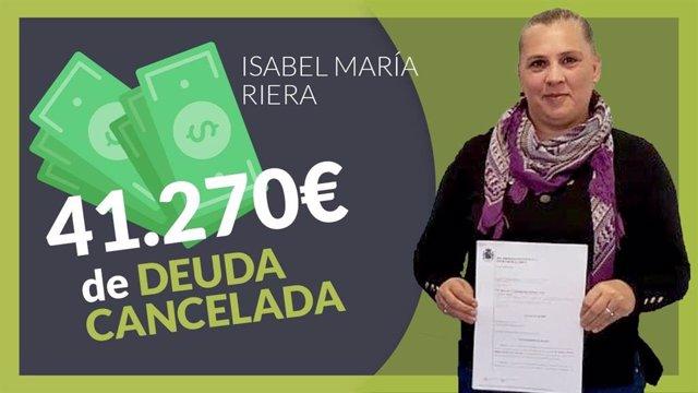 Isabel Maria Riera cliente de Repara tu deuda Abogados