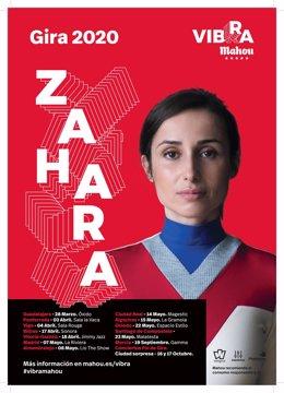 La Gira Vibra Mahou llevará el directo de Zahara por 13 ciudades españolas