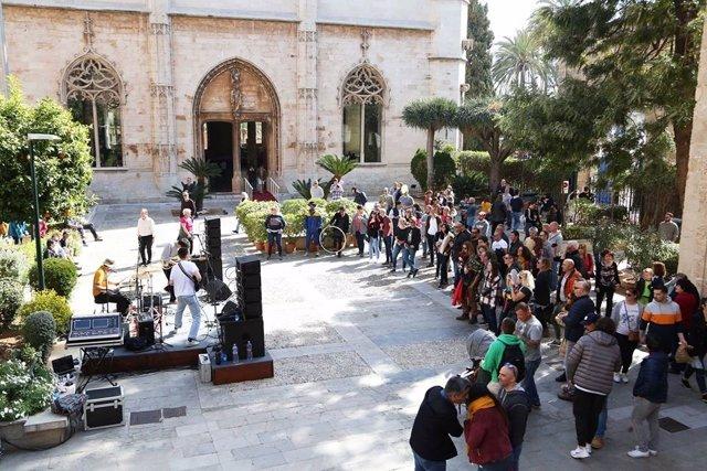Un concierto en el Consolat de Mar en una edición pasada del Día de Baleares.