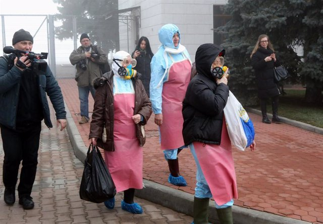Cuarentena para los ucranianos evacuados desde Wuhan