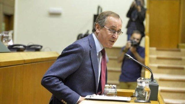 El presidente del PP vasco, Alfonso Alonso, en el Parlamento vasco